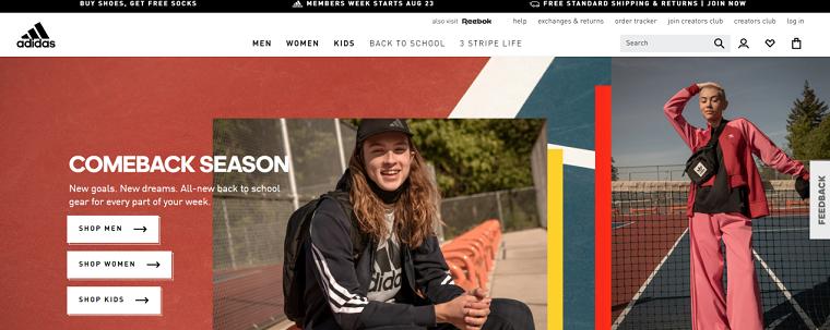 Adidas - create association
