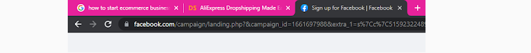 In the browser tabs