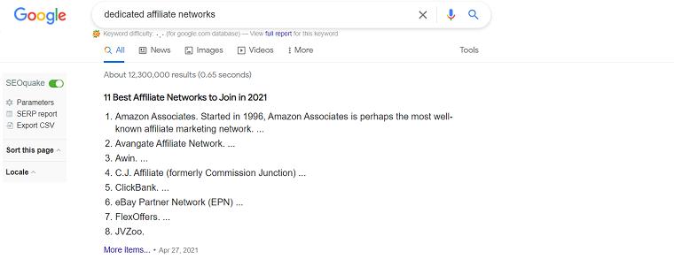 Affiliate Marketing Networks