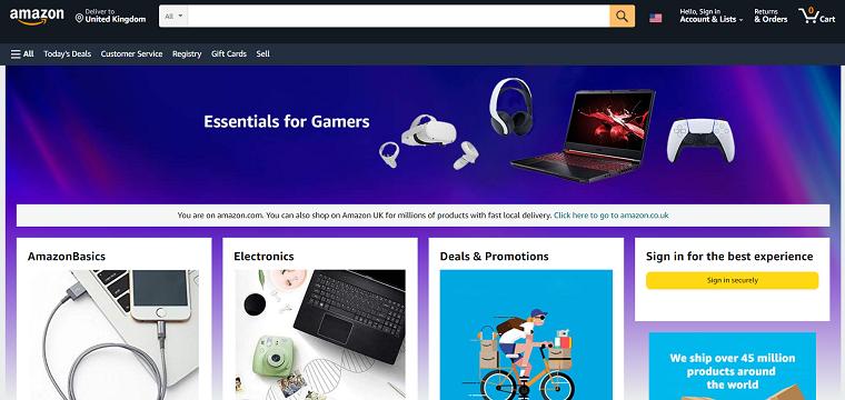 Amazon Homapage - DSers