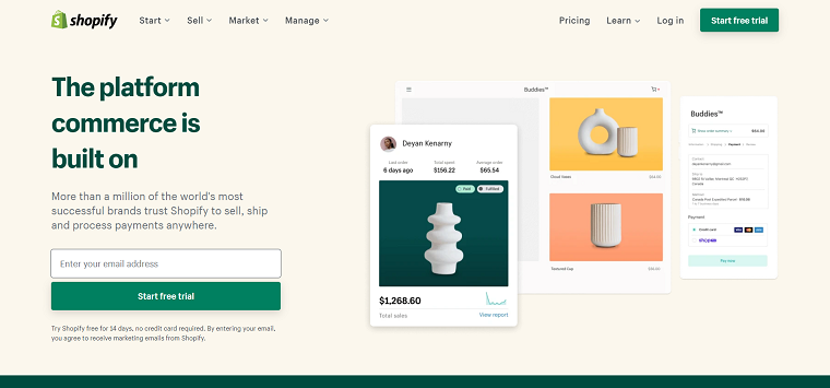 Shopify Main Page - DSers